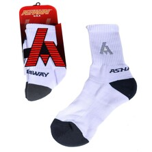 Ashaway Performance Court Sock White Black