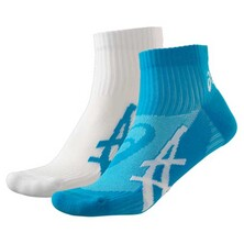 Asics Pulse Running Socks 2 Pack White Atomic Blue
