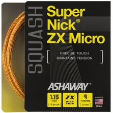Ashaway Supernick Micro ZX Squash String Set 1.15mm Orange
