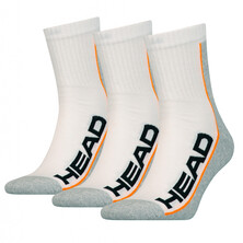 Head Performance Stripe Short Crew Socks 3 Pack - White/Grey