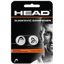 Head Djokovic Dampener 2 Pack White