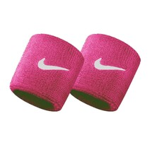 Nike Swoosh Wristbands - Pink White