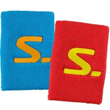 Salming Wristband Short 2 Pack Red Cyan