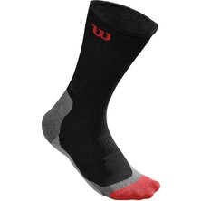 Wilson Men's High End Crew Sock 1 Pair Black