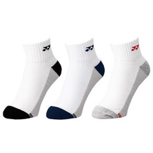 Yonex 19157 Low Cut Socks 3 Pack White