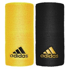 Adidas Tennis Wristband Large Black Yellow