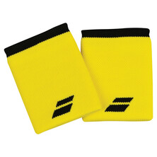 Babolat Logo Jumbo Wristband 2 Pack Blazing Yellow Black