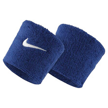 Nike Swoosh Wristbands - Royal Blue White