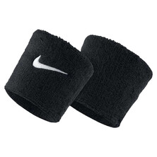 Nike Swoosh Wristbands - Black White