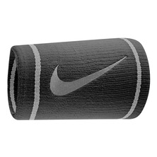 Nike Dri-Fit Doublewide Wristband Black/Base Grey