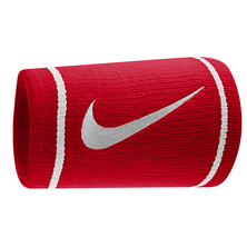 Nike Dri-Fit Doublewide Wristband Red/White