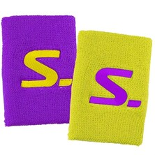 Salming Wristband Short 2 Pack Purple Saftey Yellow