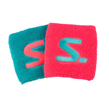 Salming Wristband Short 2 Pack Diva Pink Turquoise