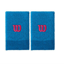 Wilson Extra Wide W Wristband Pack Of Two Brilliant Blue