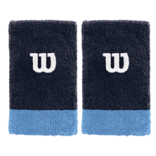 Wilson Extra Wide W Wristband Pack Of Two Peacoat Coastal