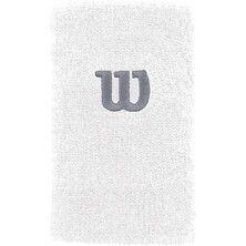 Wilson Extra Wide W Wristband Pack Of Two White