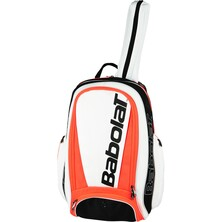 Babolat Pure Strike Backpack Bag White Fluo Red