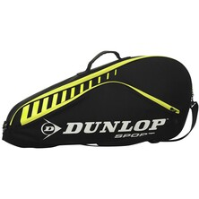 Dunlop Club 3 Racket Bag Black Yellow