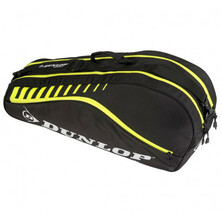 Dunlop Club 6 Racket Bag Black Yellow