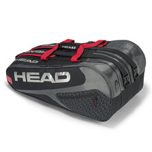 Head Elite Monstercombi 12 Racket Bag Black Red
