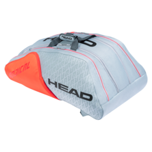 Head Radical 12R Monstercombi Racket Bag Light Grey Orange 2021