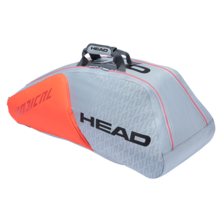 Head Radical 9R Supercombi Racket Bag Light Grey Orange 2021