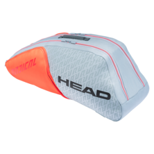 Head Radical 6R Combi Racket Bag Light Grey Orange 2021
