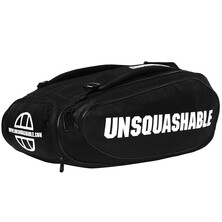 UNSQUASHABLE Tour Tec Large Deluxe Racketbag Black White
