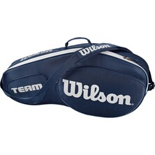 Wilson Team III 3 Pack Racket Bag Blue White