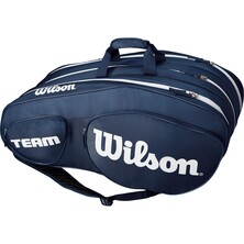 Wilson Team III 12 Pack Racket Bag Blue White
