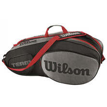 Wilson Team III 6 Pack Racket Bag Black Grey