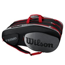 Wilson Team III 12 Pack Racket Bag Black Grey