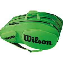 Wilson Team III 12 Pack Racket Bag Black Green