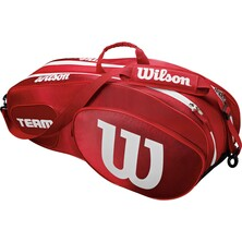 Wilson Team III 6 Pack Racket Bag Red White