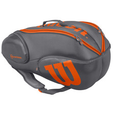 Wilson Vancouver 9 Pack Racketbag Grey Orange