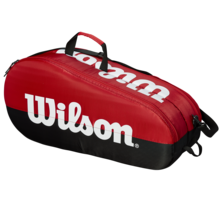 Wilson Team 6 Racket Bag Red Black