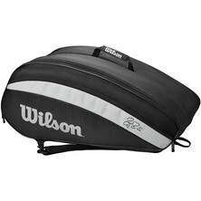 Wilson Roger Federer Team 12R Racket Bag Black White