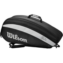 Wilson Roger Federer Team 6R Racket Bag Black White