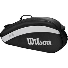 Wilson Roger Federer Team 3R Racket Bag Black White