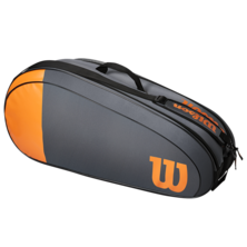 Wilson Team 6 Racket Bag Orange Grey