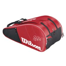 Wilson Federer Team 12 Racket Bag Red White