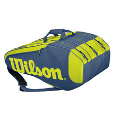 Wilson Burn Team Rush 12 Pack Racket Bag Lime Turquoise