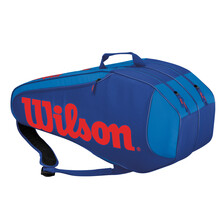Wilson Burn Team Rush 6 Pack Racket Bag Blue Orange