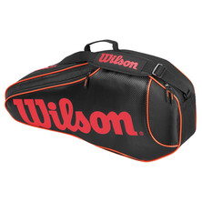 Wilson Burn Team Triple Racket Bag Black Orange