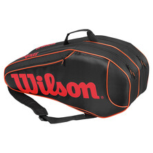 Wilson Burn Team 6 Racket Bag Black Orange