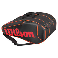 Wilson Burn Team 12 Pack Racket Bag Black Orange