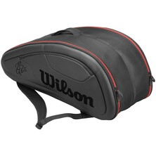 Wilson Federer DNA 12 Pack Racket Bag - Black