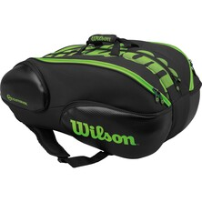 Wilson Vancouver 15 Pack Racketbag Black Green