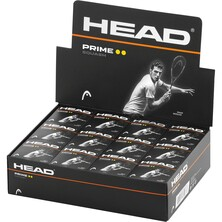 Head Prime Squash Balls Double Yellow Dot - 1 Dozen