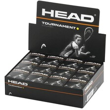 Head Tournament Squash Balls Single Yellow Dot - 1 Dozen